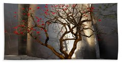 Red Tree  Hand Towel