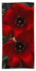 Red Tulip Pair Hand Towel