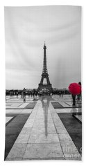 Red Umbrella Hand Towel
