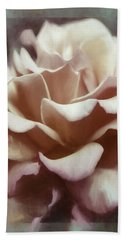 Hand Towel featuring the photograph Red White Rose by Jean OKeeffe Macro Abundance Art