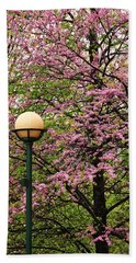 Redbud And Lamp Bath Towel