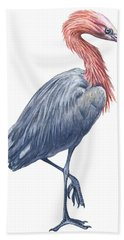 Reddish Egret Hand Towel by Anonymous
