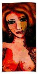 Redhead Bath Towel by Natalie Holland
