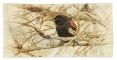 Redwing In The Wind Hand Towel