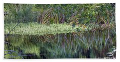 Bath Towel featuring the photograph Reed Reflections by Kate Brown