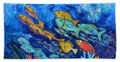 Reef Fish Hand Towel by Patti Schermerhorn