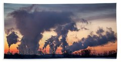 Hand Towel featuring the photograph Flint Hills Resources Pine Bend Refinery by Patti Deters