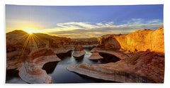 Reflection Canyon Sunrise Bath Towel