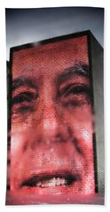 Reflection Of The The Crown Fountain Hand Towel