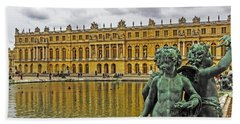 Reflection Pool Of Versailles Hand Towel