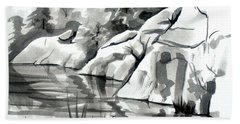 Reflections At Elephant Rocks State Park No I102 Hand Towel