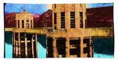 Reflections At Hoover Dam Hand Towel