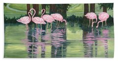 Reflections In Pink Bath Towel