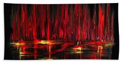 Reflections In Red Hand Towel