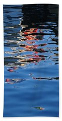 Reflections In Red Bath Towel