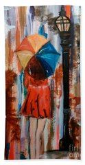 Bath Towel featuring the painting Reflections  by Lori  Lovetere