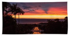 Sunset After Rain Bath Towel by Denise Bird