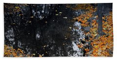 Bath Towel featuring the photograph Reflections Of Autumn by Photographic Arts And Design Studio