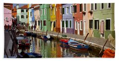 Reflections Of Burano Bath Towel