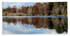 Reflections Of Color Hand Towel by Debra Forand