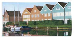 Hand Towel featuring the painting Reflections Of Holland by Lynne Reichhart