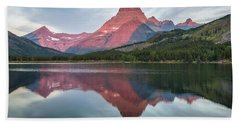 Reflections On Swiftcurrent Dawn Hand Towel