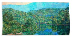 Bath Towel featuring the painting Reflections On The James River by Kendall Kessler