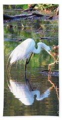 Reflections On Wildwood Lake Bath Towel