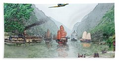 Refugees On The Yangtze Hand Towel