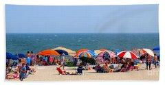 Rehobath Beach Delaware Bath Towel by Patti Whitten