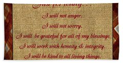 Reiki Principles Bath Towel