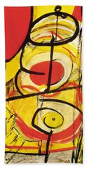 Bath Towel featuring the painting Relativity 3 by Stephen Lucas