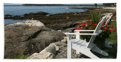 Hand Towel featuring the photograph Relaxing Afternoon by Mariarosa Rockefeller