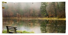 Bath Towel featuring the photograph Relaxing Autumn Beauty Landscape by Christina Rollo