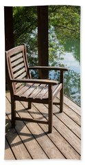 Alone By The Lake Hand Towel