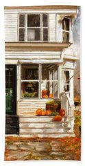 Remembering When- Porches Art Hand Towel