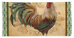 Renaissance Rooster-d-green Bath Towel by Jean Plout