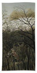 Rendezvous In The Forest Bath Towel