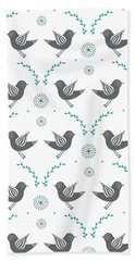 Repeat Lovebird Hand Towel by Susan Claire
