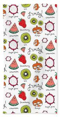 Repeat Print - Fruits Hand Towel