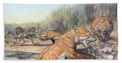 Repenomamus Mammals Hunting For Prey Hand Towel