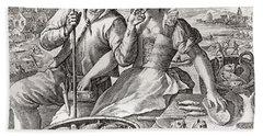 Representation Of Sensual Love, After Crispijn Van De Passe The Elder.   From Illustrierte Hand Towel