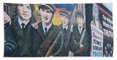 Republican Murals Against British Rule Bath Towel