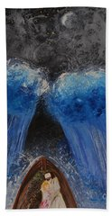 Hand Towel featuring the painting Rest In Him by Cassie Sears
