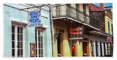 Restaurants Along Bourbon Street Bath Towel