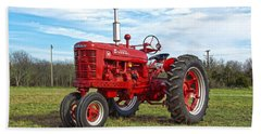 Restored Farmall Tractor Bath Towel by Charles Beeler