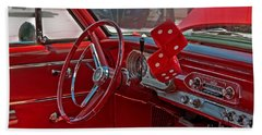 Retro Chevy Car Interior Art Prints Hand Towel by Valerie Garner