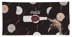 Retro Music Diner Background Hand Towel