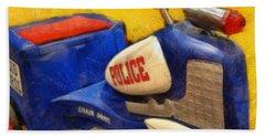 Retro Police Tricycle Bath Towel