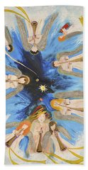 Hand Towel featuring the painting Revelation 8-11 by Cassie Sears